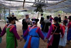 Ban Pang Sa villagers dancing for the Chinese New Year