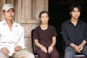Mr Nguyen Chap, Mrs Nguyen Thi Cam, their son Mr Nguyen Xuan Thoi