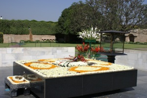 Rajgat, site of Gandhi's cremation. We must be the change we wish to see
