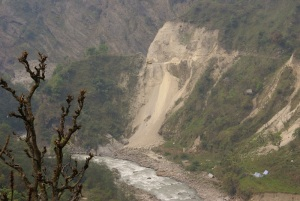Road building near Bahundanda, in an area already affected by deforestation and landslides
