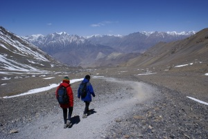 All downhill now, a long 1600m descent to Muktinath. What an incredible sense of relief and accomplishment!